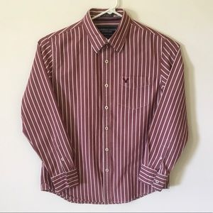 American Eagle Oxford Red & White Striped Large